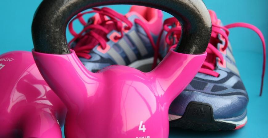 Billede af pink kettlebell