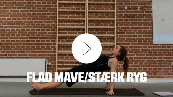 Hjemmetræningsvideo af flad mave og stærk ryg